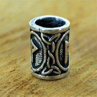"""Futhark Bartperle Rune """"WUNJO"""" aus 925er Sterling Silber"""