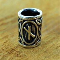 """Futhark Bartperle Rune """"NAUDHIZ"""" aus 925er..."""