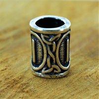 """Futhark Bartperle Rune """"ISA"""" aus 925er Sterling Silber"""