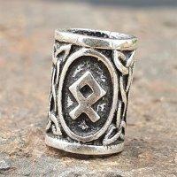 """Futhark Bartperle Rune """"OTHALA"""" aus 925er Sterling Silber"""