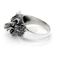 "Wolf Ring ""Hati"" aus 925 Sterling Silber 55 (17,5) / 7 US"