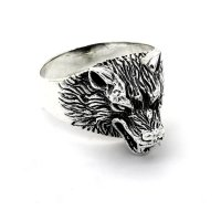 """Wolf Ring """"Hati"""" aus 925 Sterling Silber 68 (21,6) / 12 US"""