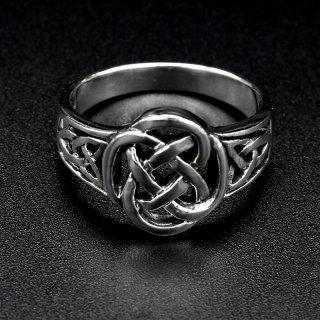 Ring aus 925 Sterling Silber mit keltischen Muster verziert 66 (21,0) / 11 US