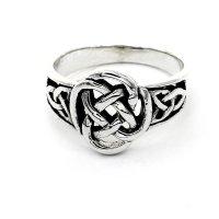 Ring aus 925 Sterling Silber mit keltischen Muster verziert 68 (21,6) / 12 US