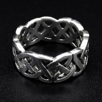 Keltischer Knoten Ring aus 925 Sterling Silber 55 (17,5) / 7 US