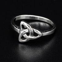 "Keltischer Knoten Ring ""KIRANI"" aus 925 Sterling Silber 66 (21,0) / 11 US"