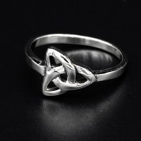 "Keltischer Knoten Ring ""KIRANI"" aus 925 Sterling Silber 68 (21,6) / 12 US"
