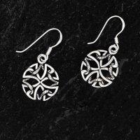 """Keltisches Kreuz Ohrhänger """"Cullodena"""" aus..."""