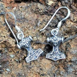 "Thorshammer Ohrhänger ""HAGGAR"" aus 925er Sterling Silber"