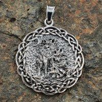 Wolfsrudel Schmuck Amulett aus 925er Sterling Silber