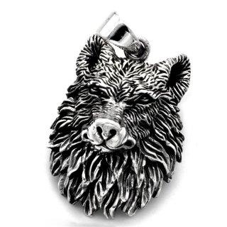 Wolfskopf Schmuck Anhänger aus 925 Sterling Silber