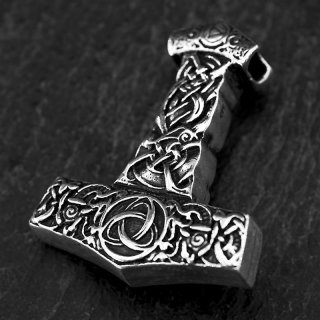 "Massiver Thors Hammer Anhänger ""KNUT"" aus 925 Sterling Silber"