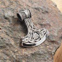 "Wikingerbeil ""Danski"" Schmuck Anhänger mit Valknut Knoten aus 925 Sterling Silber"