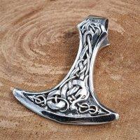 Wikingerbeil verziert mit der Midgardsschlange aus 925...
