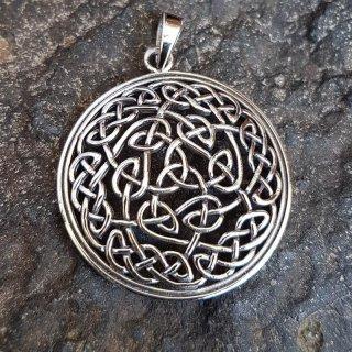 """Keltischer Knoten Anhänger """"EDDA"""" aus 925 Sterling Silber"""