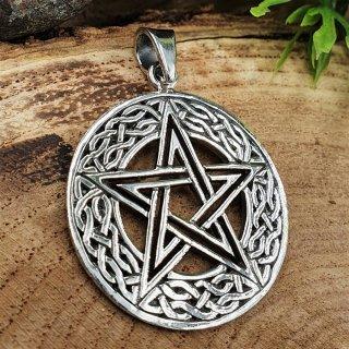 "Pentagramm Anhänger ""MORGAN"" aus 925er Sterling Silber"