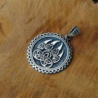 Bärenkralle Amulett verziert mit keltischen Knoten aus 925 Sterling Silber