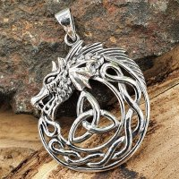 Jörmungandr Schmuck Amulett mit keltischem Knoten...