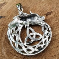 Jörmungandr Schmuck Amulett mit keltischem Knoten aus 925er Sterling Silber