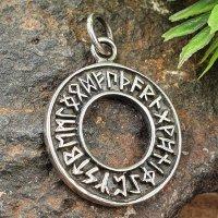 Futhark Schmuck Anhänger aus 925 Sterling Silber