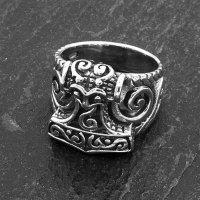 Mjölnir Thors Hammer Ring aus 925 Sterling Silber 68 (21,6) / 12 US