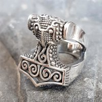 Mjölnir Thors Hammer Ring aus 925 Sterling Silber
