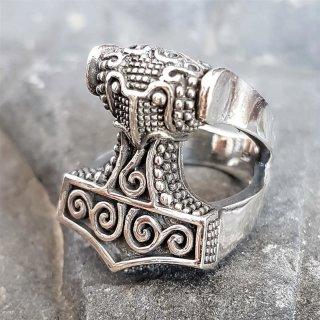 Mjölnir Thors Hammer Ring aus 925 Sterling Silber 55 (17,5) / 7 US