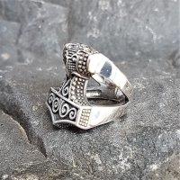 Mjölnir Thors Hammer Ring aus 925 Sterling Silber 57 (18,5) / 8 US