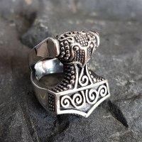Mjölnir Thors Hammer Ring aus 925 Sterling Silber 60 (19,0) / 9 US