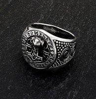 Thors Hammer Siegelring mit Runen aus 925 Sterling Silber 66 (21,0) / 11 US