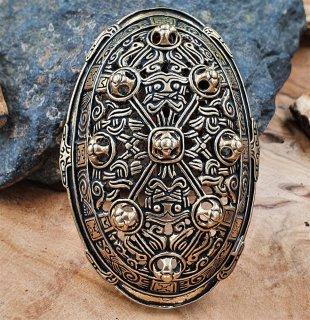 """Wikinger Ovalfibel """"ASTRID"""" aus Bronze"""