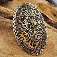 """Wikinger Ovalfibel """"GYDA"""" aus Bronze"""