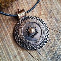 """Keltische Schild Schmuck Amulett """"LOIGAIRE"""" aus Bronze"""
