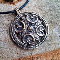 """Keltische Schild Schmuck Amulett """"BLATHMAC"""" aus..."""