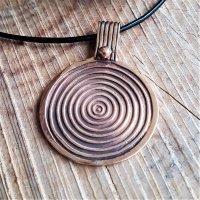 """Keltische Schild Schmuck Amulett """"FIACHA"""" aus Bronze"""
