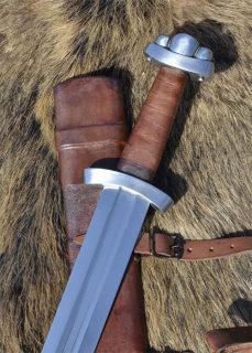 Frühes Wikingerschwert Godfred mit Scheide, für Schaukampf SK-B