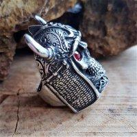 "Untoter Wikinger Ring ""DRAUGR"" aus Edelstahl 60 (19,0) / 9 US"