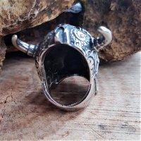 "Untoter Wikinger Ring ""DRAUGR"" aus Edelstahl 66 (21,0) / 11 US"
