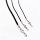 Lederband mit einem Karabinerverschluss aus Edelstahl (3 mm breit)