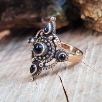 "Wikinger Schmuck Ring ""ROMY"" aus Bronze 56 (17,8) / 7,6 US"