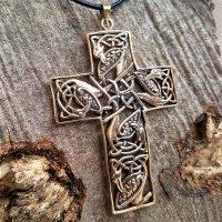 Kreuz Anhänger, verziert mit der Midgardschlange,...