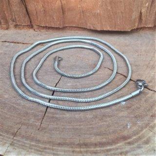 """2mm Schlangenkette """"Jörmungandr"""" aus Edelstahl 42cm"""