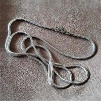 """2mm Schlangenkette """"Jörmungandr"""" aus Edelstahl 45cm"""