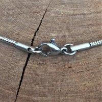 """2mm Schlangenkette """"Jörmungandr"""" aus Edelstahl 50cm"""