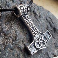 """Thors Hammer Anhänger """"AEGIR"""" aus Sterling Silber"""