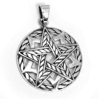"Pentagramm Schmuck Anhänger ""Draconia"" aus 925 Sterling Silber"