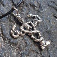 Gothic Schmuck Anhänger Skelett von Schlangen...
