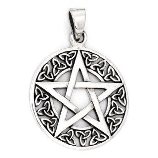 Pentagrammkugel zum Öffnen aus 925er Sterling Silber Schmuck Anhänger