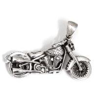 """Motorrad Schmuck Anhänger """"FREIHEIT"""" aus 925er Sterling Silber"""