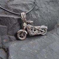 "Motorrad Schmuck Anhänger ""REBEL"" aus 925er Sterling Silber"